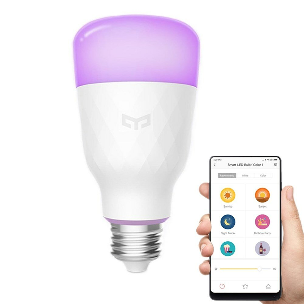 Capable Led Wifi Light Bulb E26 E27 Rgb Smart Music Magic Lamp Bulb Wireless Colorful With Remote Control Audio Holiday Lighting Bulbs Led Bulbs & Tubes