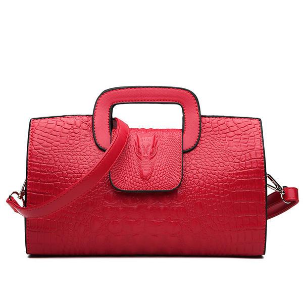 Women Crocodile Pattern Crossbody Bags Messenger Bags Casual Handbags