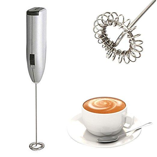 Automatic Milk Frother Electric Handhold Stainless steel Mini Coffee Milk Mixer Portable Foamer Mixe