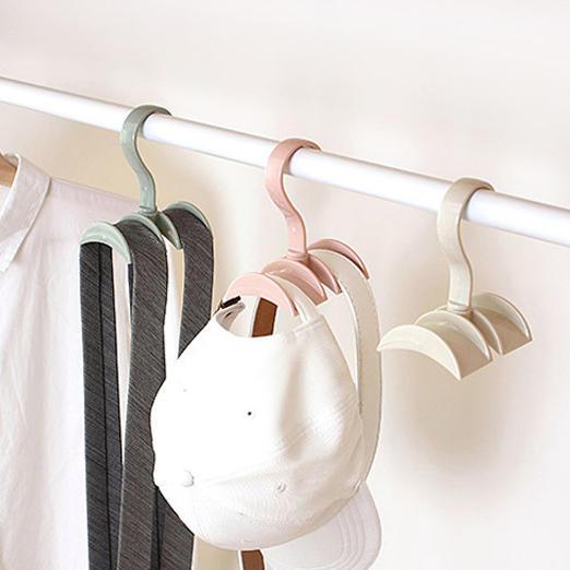 Rotated Storage Rack Bag Hanger Plastic Clothes Creative Tie Coat Closet Wardrobe Organizer Cod