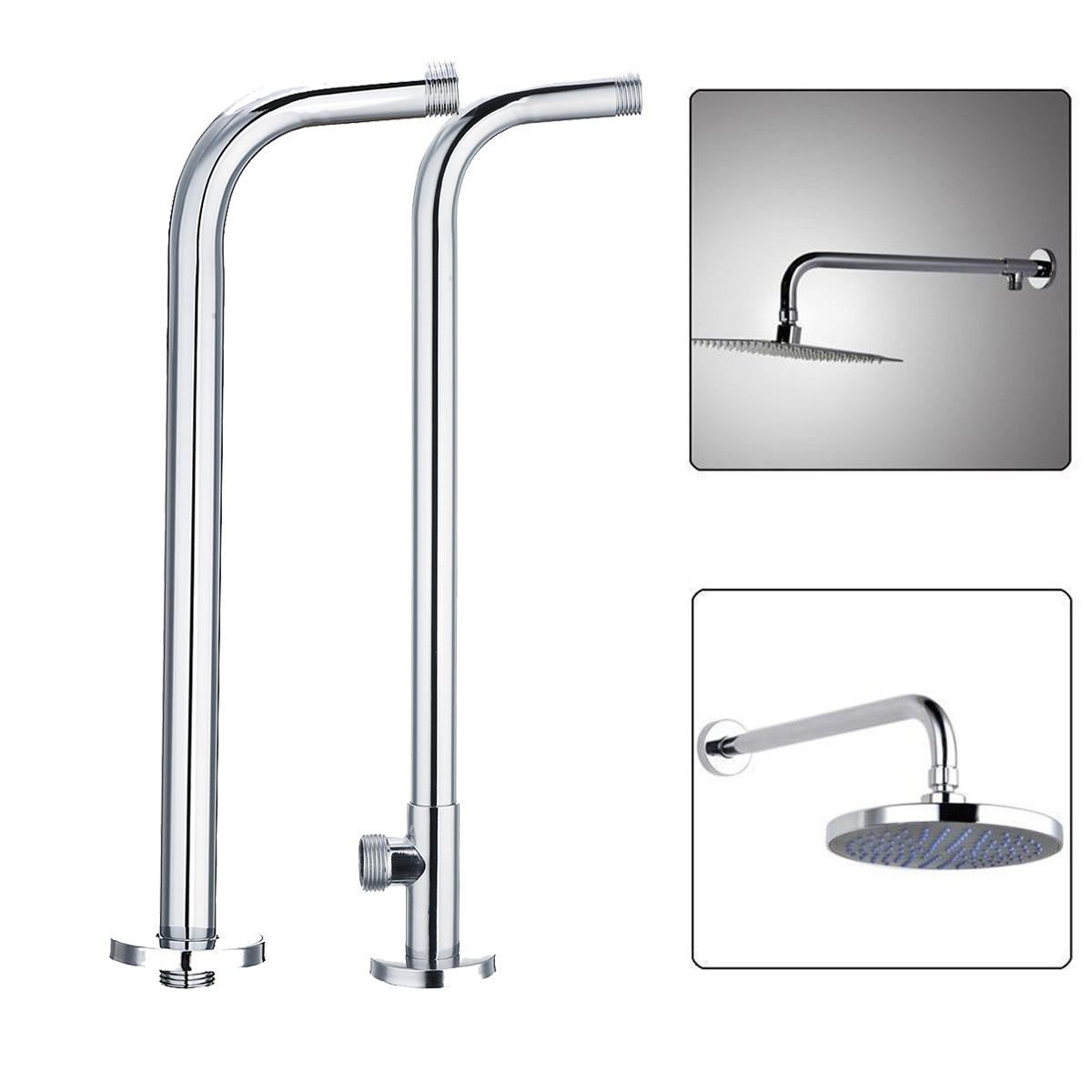 stainless steel shower extension arm home bathroom wall mounted rh banggood com