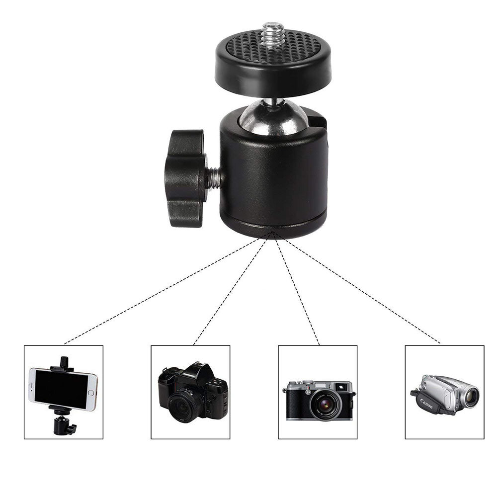Universal 1/4 Inch Screw Mini Ball Head Flash Bracket Holder Mount For Gimbal Camera Tripod Hot Shoe