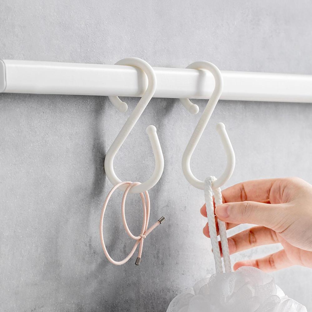Sensationelle xiaomi u 10 stk s shape dobbelt kroge hvid tøj hænger til YL92