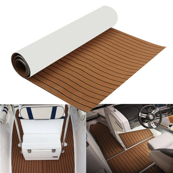 2400x1200x6mm eva foam brown faux teak boat flooring decking sheet rh banggood com