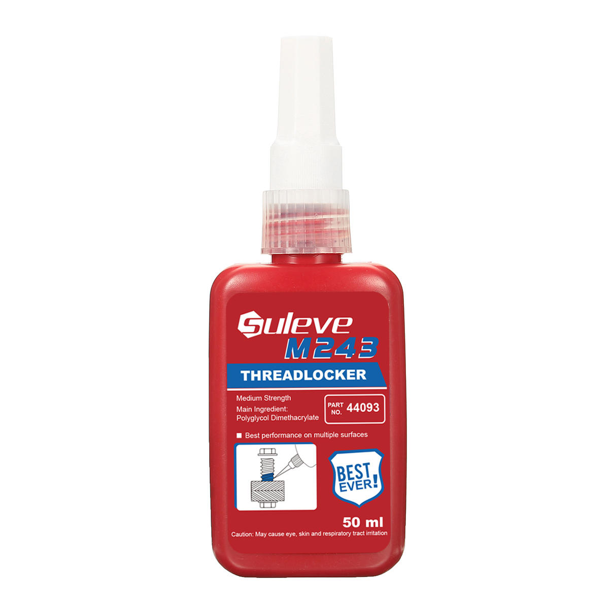 Suleve™ M243 50mL Threadlocker Screw Lock Glue Multipe Surface Medium Strength Anaerobic Adhesive
