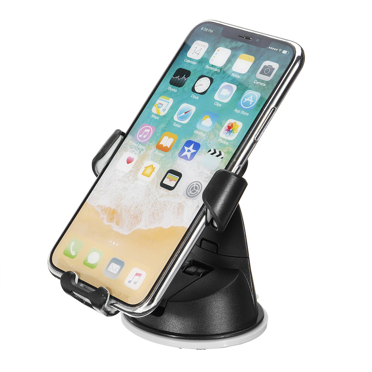 Universal Gravity Linkage Auto Lock Car Air Vent Mount Dashboard Holder for iPhone Xiaomi Mobile Phone