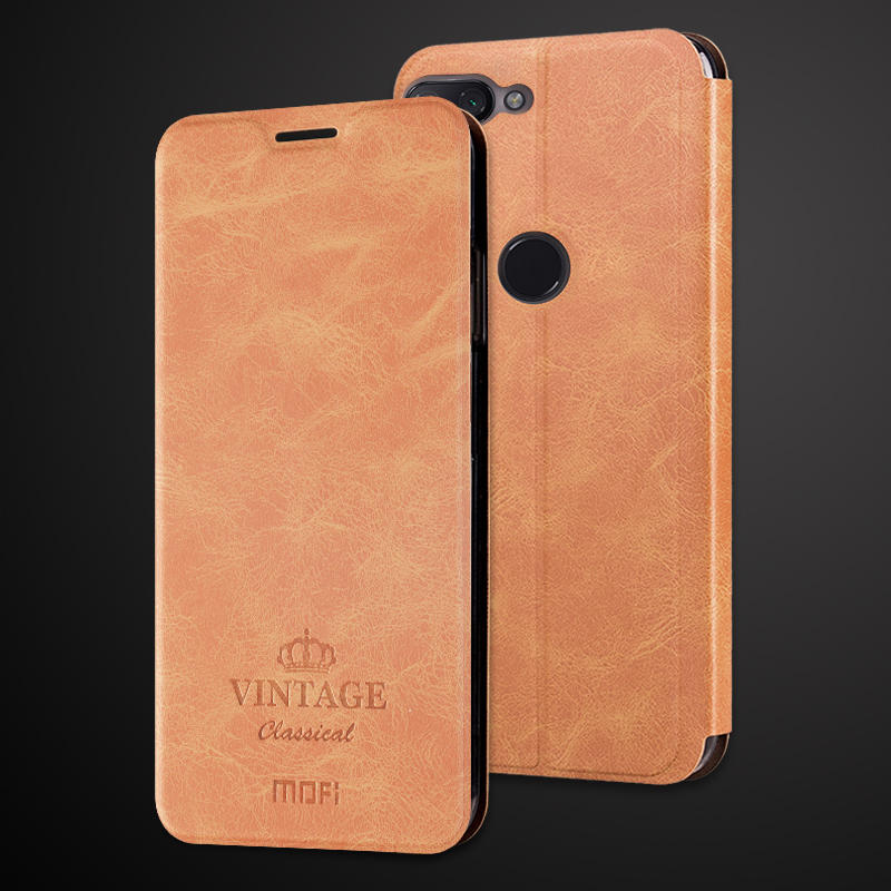 MOFI Shockproof PU Leather Flip Card Slot With Stand Full Body Protective Case For Xiaomi Mi8 Lite