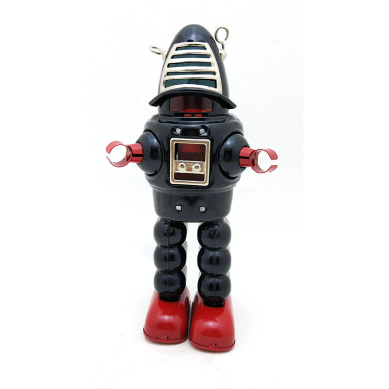 Classic Vintage Clockwork Wind Up Large Robot Photography Children Kids Tin Toys With Key