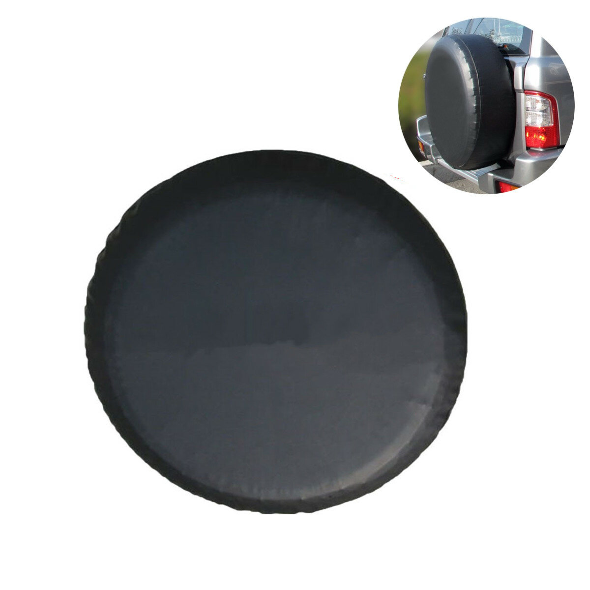 ce09bb8cc504 15 Inch Black PVC Leather Spare Wheel Tire Cover Waterproof Size M for  Jeep  Wrangler  SUV Car COD