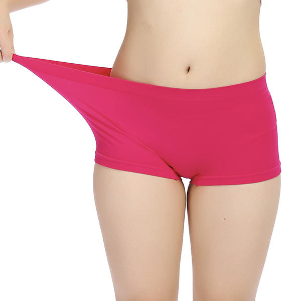Women Comfy Soft Seamless Sport Boxers Panties Breathable Anti Emptied Underwear