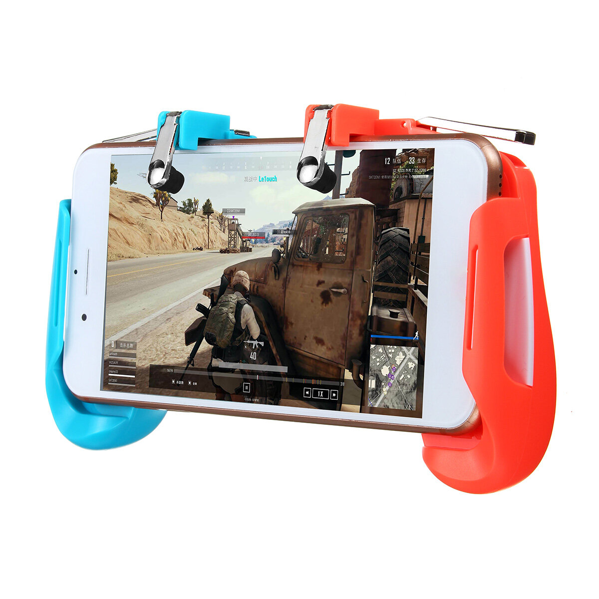 2 in1 Gamepad Game Controller Handle L1R1 Shooter Trigger Fires Button For PUBG Mobile Game For Android IOS Smartphone
