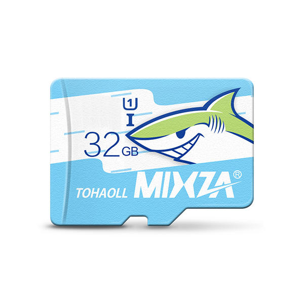 MIXZA Shark Edición Tarjeta de Memoria 32GB Tarjeta Micro SD de Clase 10 para Smartphone Cámara MP3