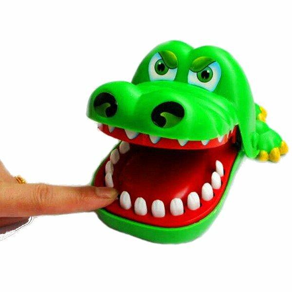 Grande bouche crocodile morsure doigt drôle parent-enfant jouet éducatif