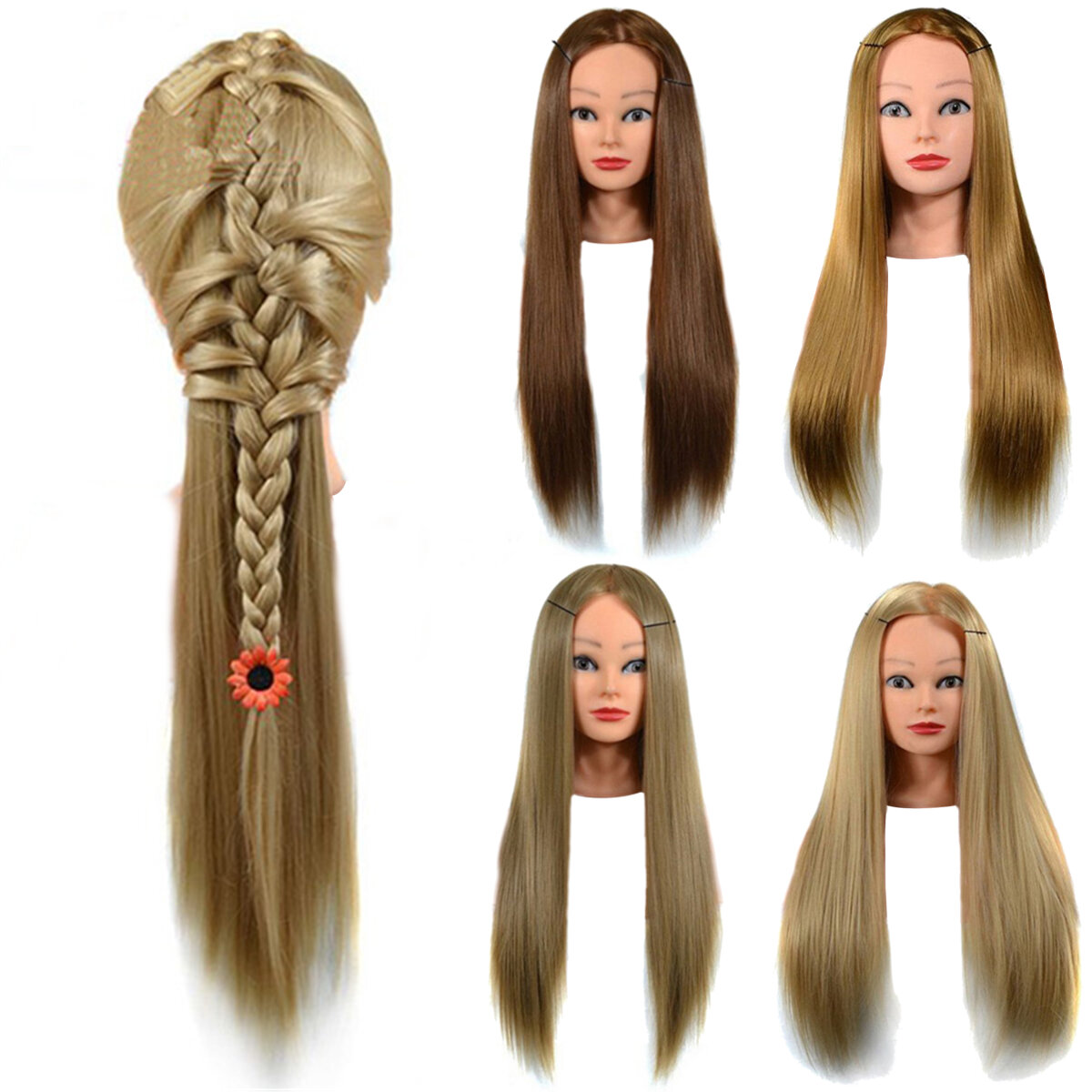 23'' Hairdressing Training Mannequin Practice Head Styling Salon + Free Clamp