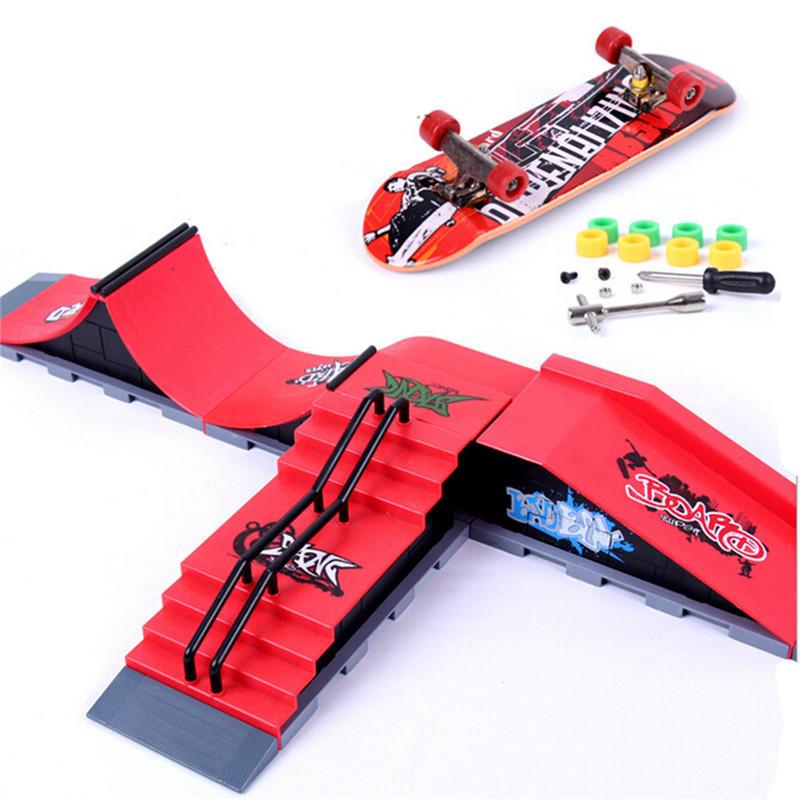 DIY Doigt Site de Planche à Roulettes Parc de Skate Pièces de Rampe Doigt Carte Site de Sport Ultime