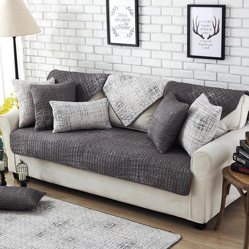 Modern Magical Sofa Cover Corner Fabric Double Towel Non Slip Sofa