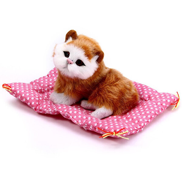 Children Simulation Animal Doll Plush Sleeping Cats Toy Sound Kids Toy Stuffed Toys