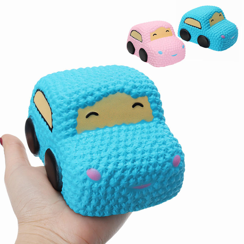 Squishy voiture Racer Cake Soft Slow Rising Toy pain parfumé Squeeze