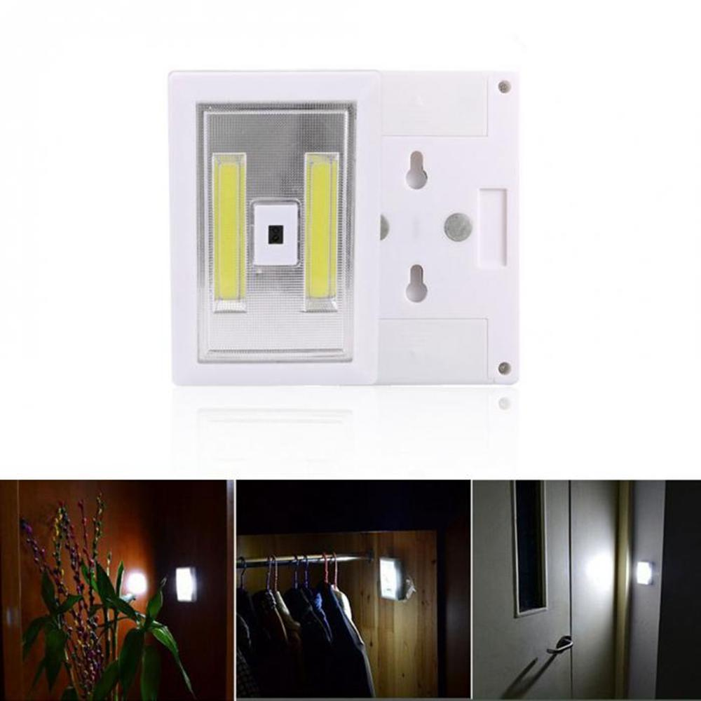 Wardrobe Cupboard Closet Kitchen Night Light Led Under Cabinet Light Pir Motion Body Sensor Camping Lamp Aaa*3 Battery Dc4.5v Lights & Lighting