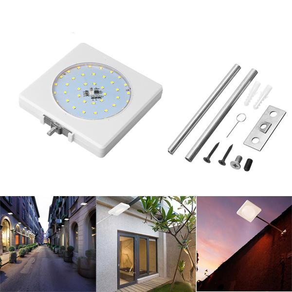 5W Solar Control de sonido Colorful Wall Street Lámpara con poste Impermeable para al aire libre Road Yard Garden