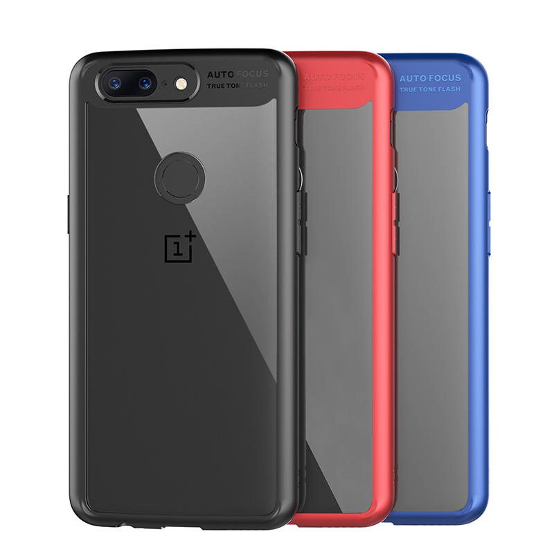 online store 68bbd e88c0 Luxury 2 In 1 Shockproof TPU +PC Acrylic Back Protective Cover For OnePlus  5T