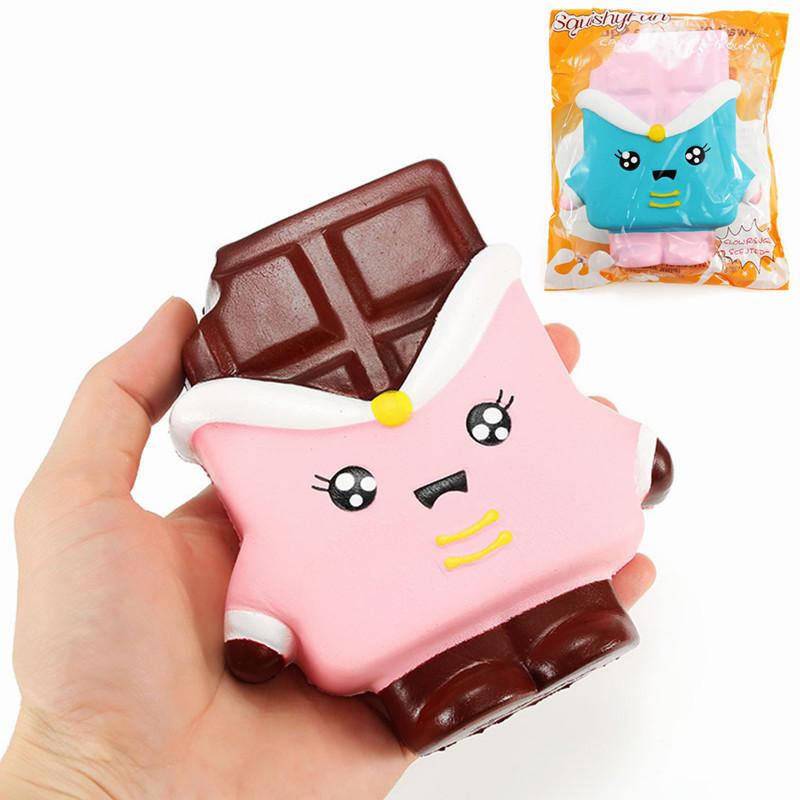 SquishyFun 초콜릿 Squishy 13cm 천천히 상승 포장 컬렉션 선물 장식 Soft 장난감
