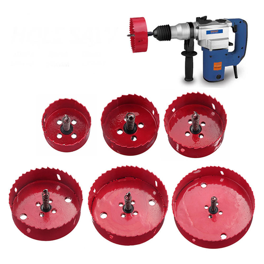 60-135mm M42 Metal Hole Saw Cutter Drill Bits With Rod For Aluminum Iron Pipe Woodworking COD