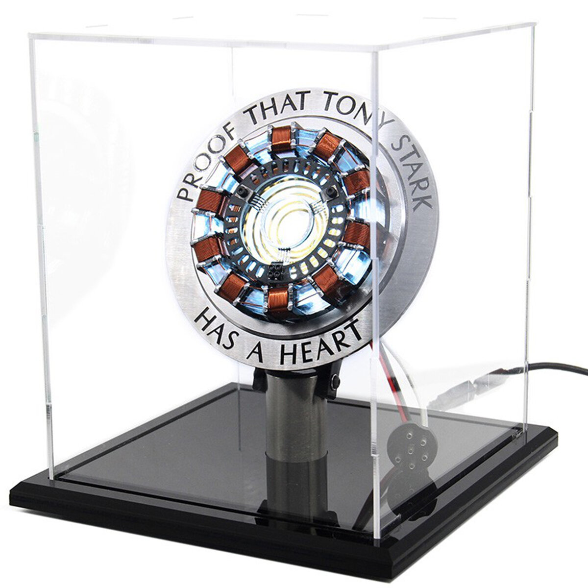 MK1 Acrylic Tony DIY Arc Reactor Lamp Arcylic Kit Illuminant LED Flash Light Set Avengers Endgame Iron man Tony Stark