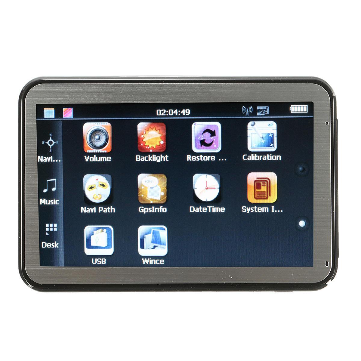 4,3 tum HD Bildskärmsbärbar navigationsbil GPS Navigation Sat Nav System