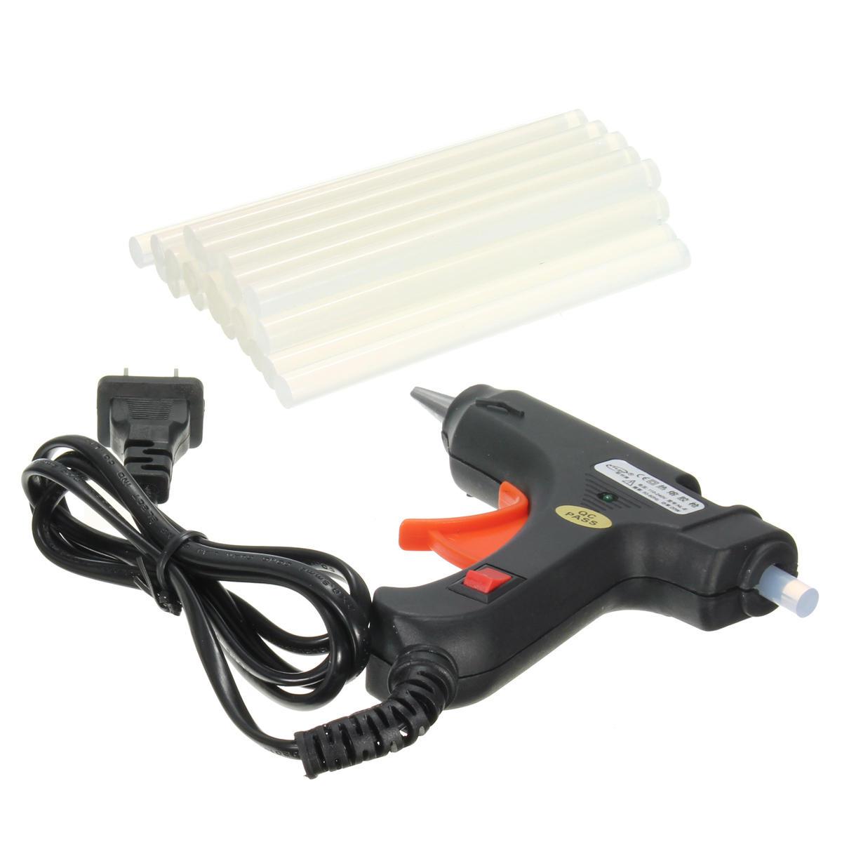 Electric 20w Hot Melt Art Craft Glue Gun With 50pcs Free Mini Clear
