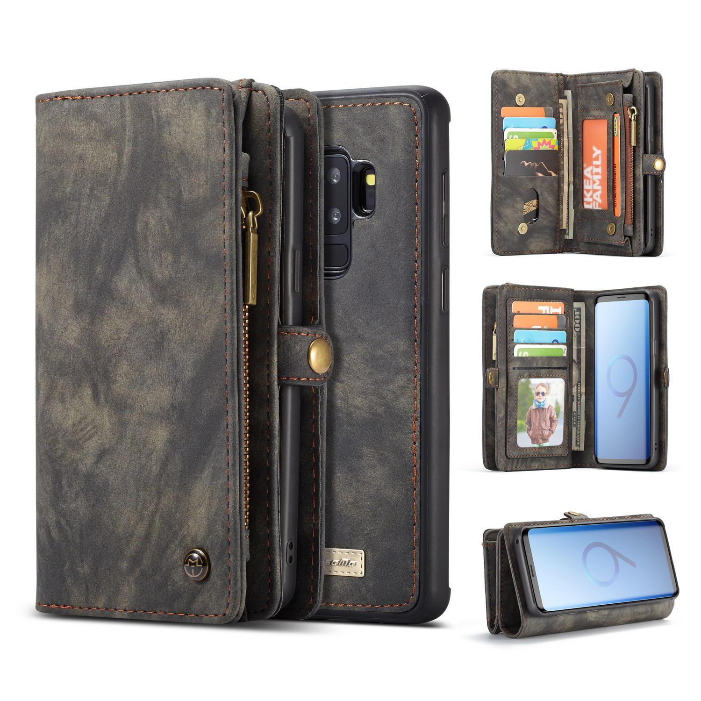 Кассете магнитный съемный кошелек телефон дело для Samsung Galaxy S9 Plus