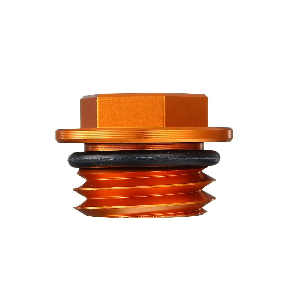 Oiling Plug Scerw Cap CNC Rostfritt Stål Orange För KTM 125-530 SX / SX-F / EXC / EXC-F