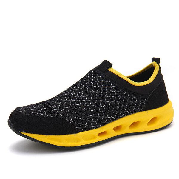 Mannen Casual Outdoor Ademende Mesh Sport Schoenen Soft Zool Walking Athletic Shoes