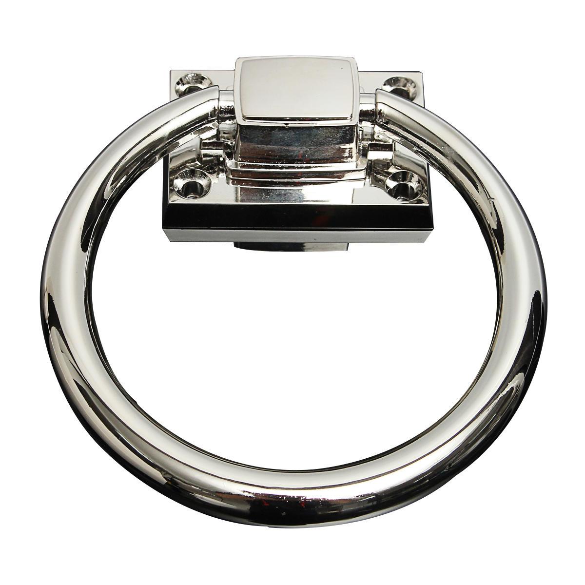 Ahşap Kapı Koltuğu için Paslanmaz Çelik Makas Çekme Kolu Çekimli Yüzük Parlak Gümüş