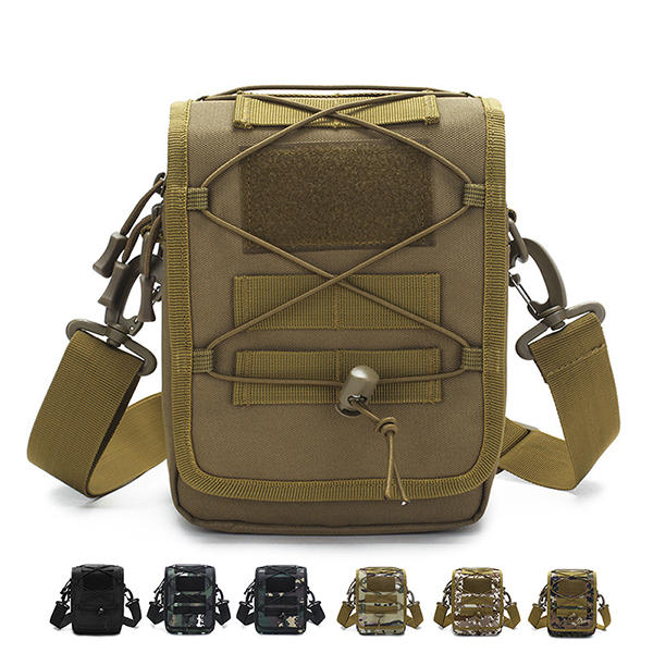 Men Nylon Waterproof Tactical Camo Outdoor Crossbody Bag Sling Shoulder Bag