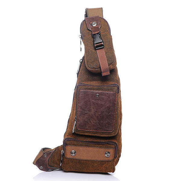 Men Casual Borst Bag Vintage Crossbody schoudertas Fashion Canvas Crescent Bag