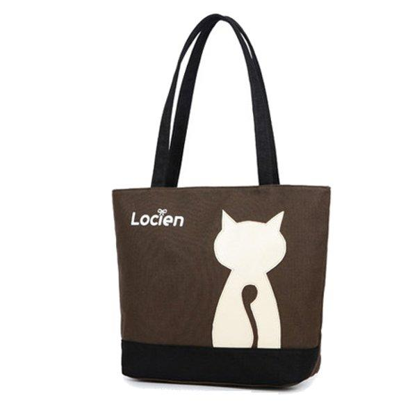 women cat canvas tote bags casual shopping bags shoulder bags at ... 2ae876ec94f5b
