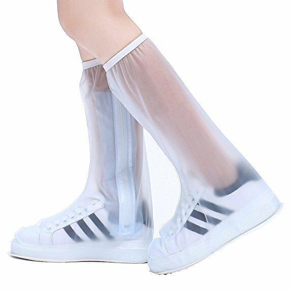 fff103590 PVC Mujer hombre zapatos de lluvia cubierta cremallera Impermeable lluvia  zapatos reutilizables cubiertas antideslizante lluvia Botas