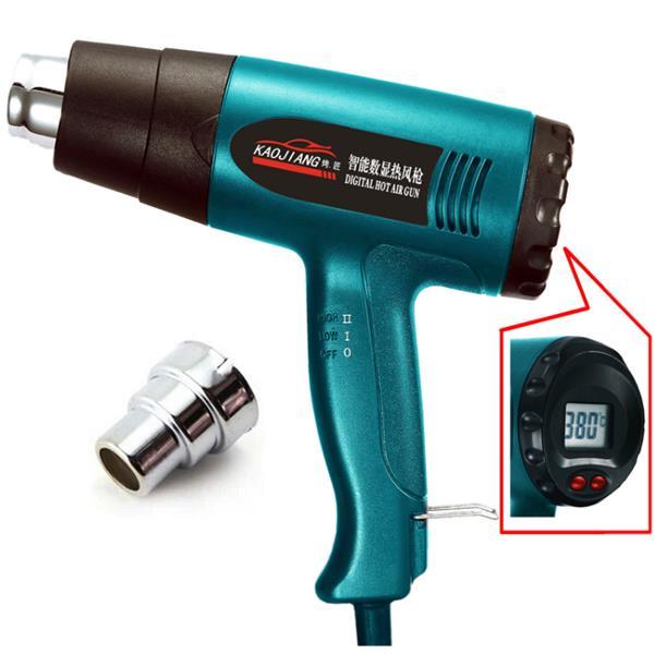 KJ-620B 2000W 220V EU LCD ปืนฉีดความร้อนแบบเทอร์โมพลาสติกร้อนอุตสาหกรรม