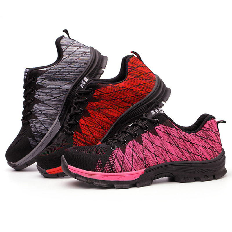 Men's Breathable Non-Slip Wear-Resistant Working Sports Safety Labor Anti-Smashing Sneakers Shoes
