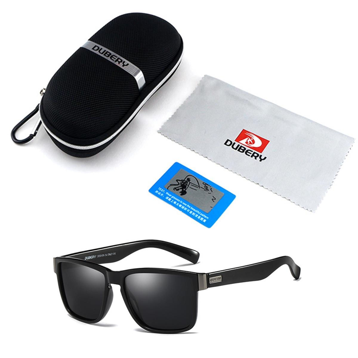 UV400 Polarized Glasses Driving Sports Sunglasses Black Green Blue with Box