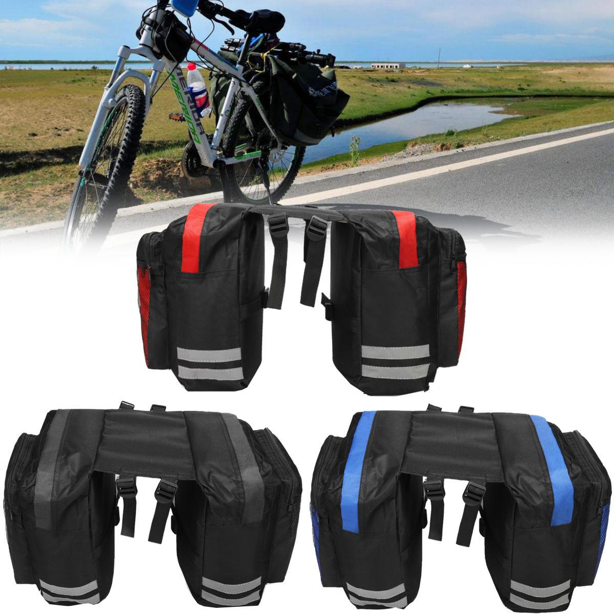 BIKIGHT Bicicleta de ciclismo 600D 20L Equipaje Bolsa Bicicleta de asiento trasero con asiento Saddle Bolsa Cycle Pannier Impermeable