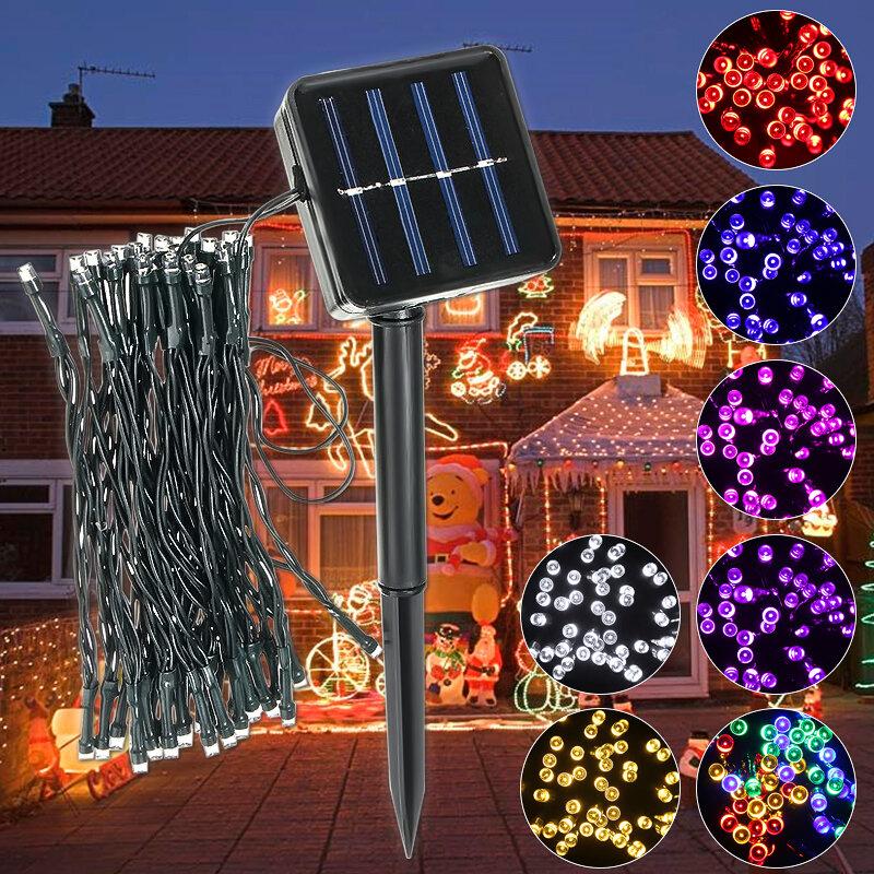 Outdoor โซลา Powered 5.2M 50 LED String Lighty Light Yard สวน โคมไฟ Chirstmas เส้นทาง