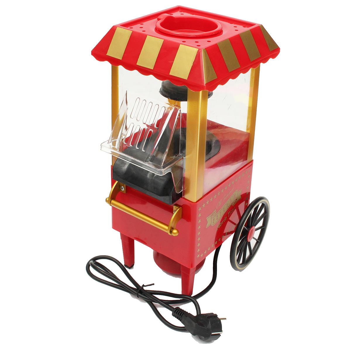 220V AB Fiş Gerilimi Retro Elektrikli Patlamış Mısır Makinesi Popper Makinesi Ev Sahipliği Karnavalı Mutfak Aleti