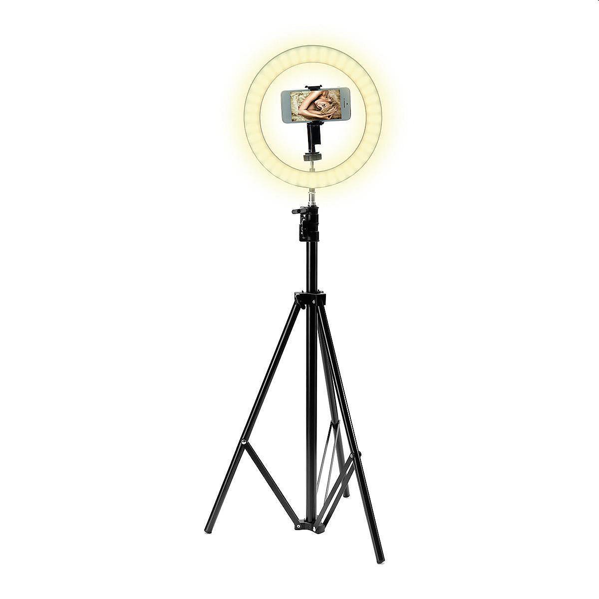 Bague portable trépied lumière support en direct Selfie Stick Jack Jack avec lumière de remplissage pour les téléphones mobiles
