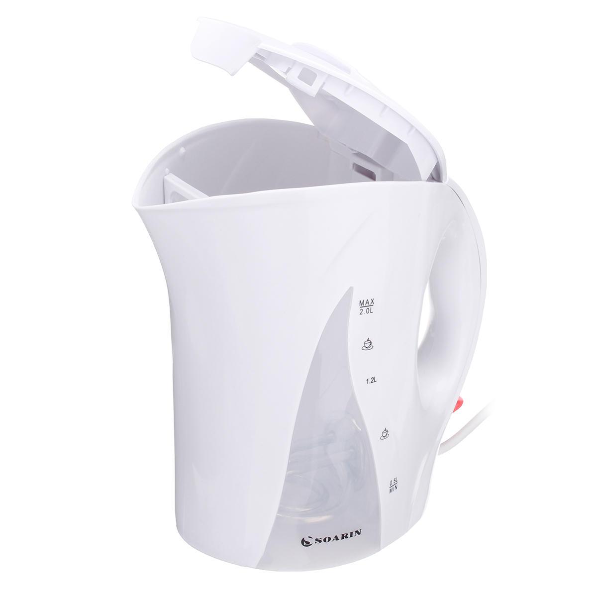 SOARIN SQ-2011D Bouilloire électrique 2200W 2,0 L Chaudière à thé avec chauffe-eau avec chaudière LED