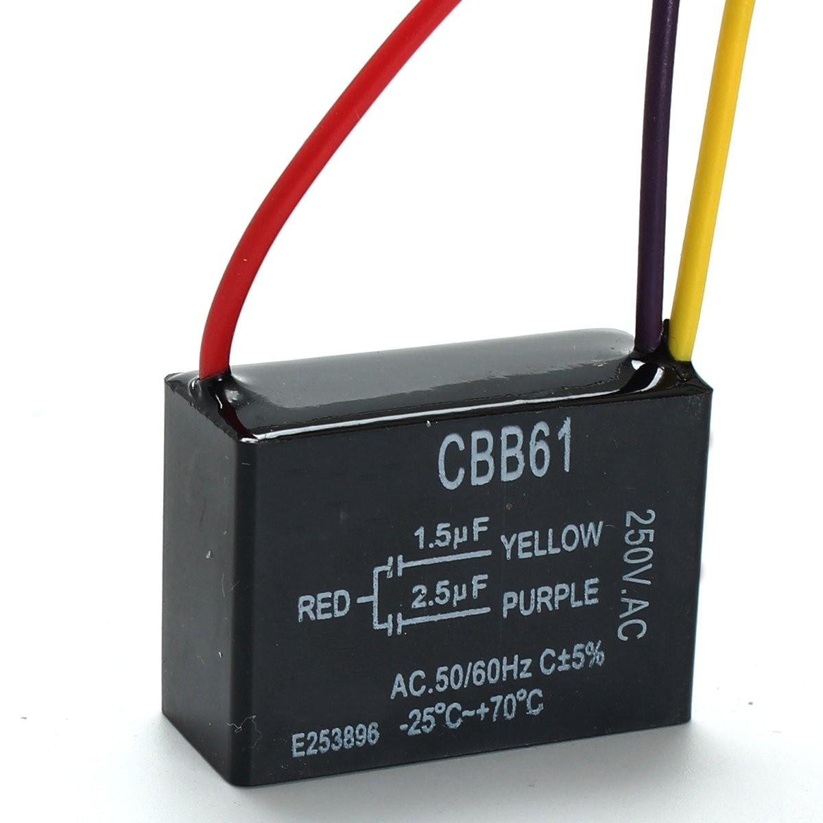 Groovy Cbb61 1 5Uf 2 5Uf 3 Wire 250Vac Ceiling Fan Capacitor 3 Wires Sale Wiring Digital Resources Bemuashebarightsorg