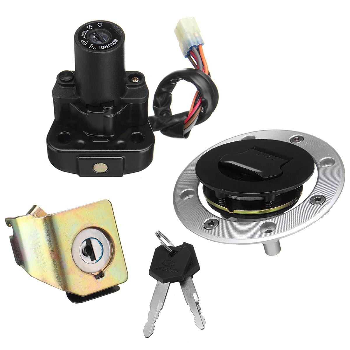 Ignition Switch Lock Fuel Gas Cap Key Set For Suzuki Gsx1300r