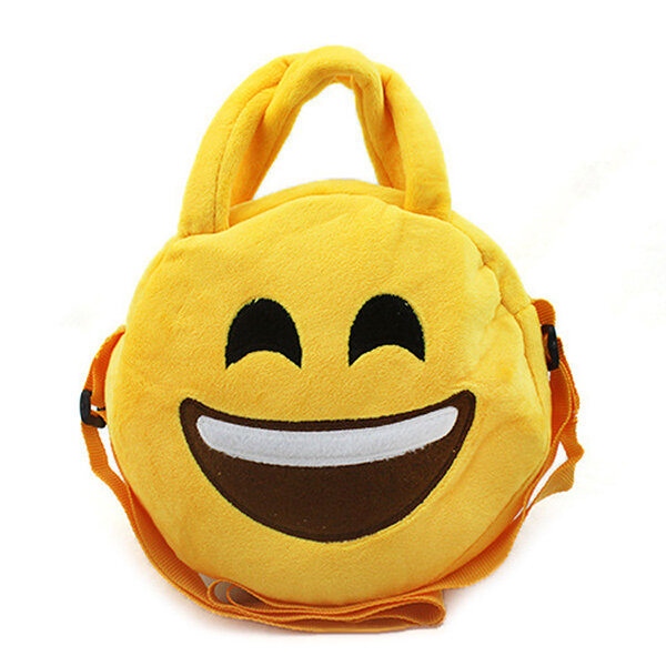 9cc98aefdbf Kids Cute Emoji Emoticons Crossbody Bag Plush Children Shoulder Portable  Bags COD