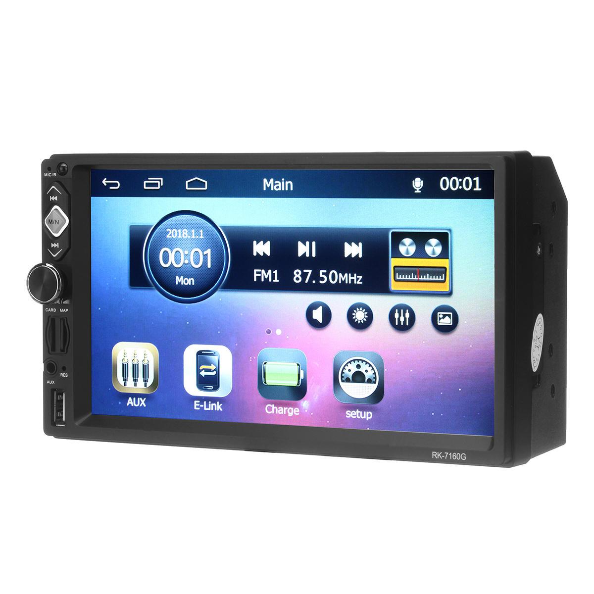RK-7160G 7 дюймов GPS HD MP5 Плеер Стерео Радио Bluetooth FM RDS Быстрое зарядное зеркало Link Cam